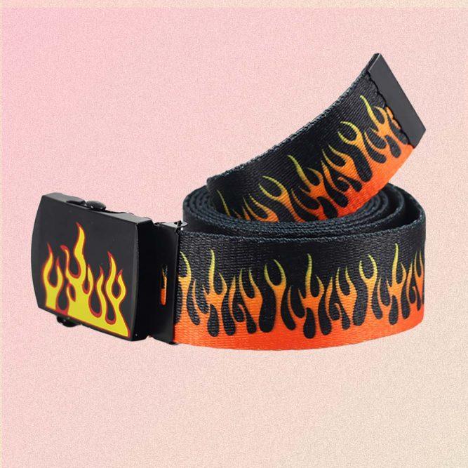 GRUNGE STYLE FLAMES BELT 3
