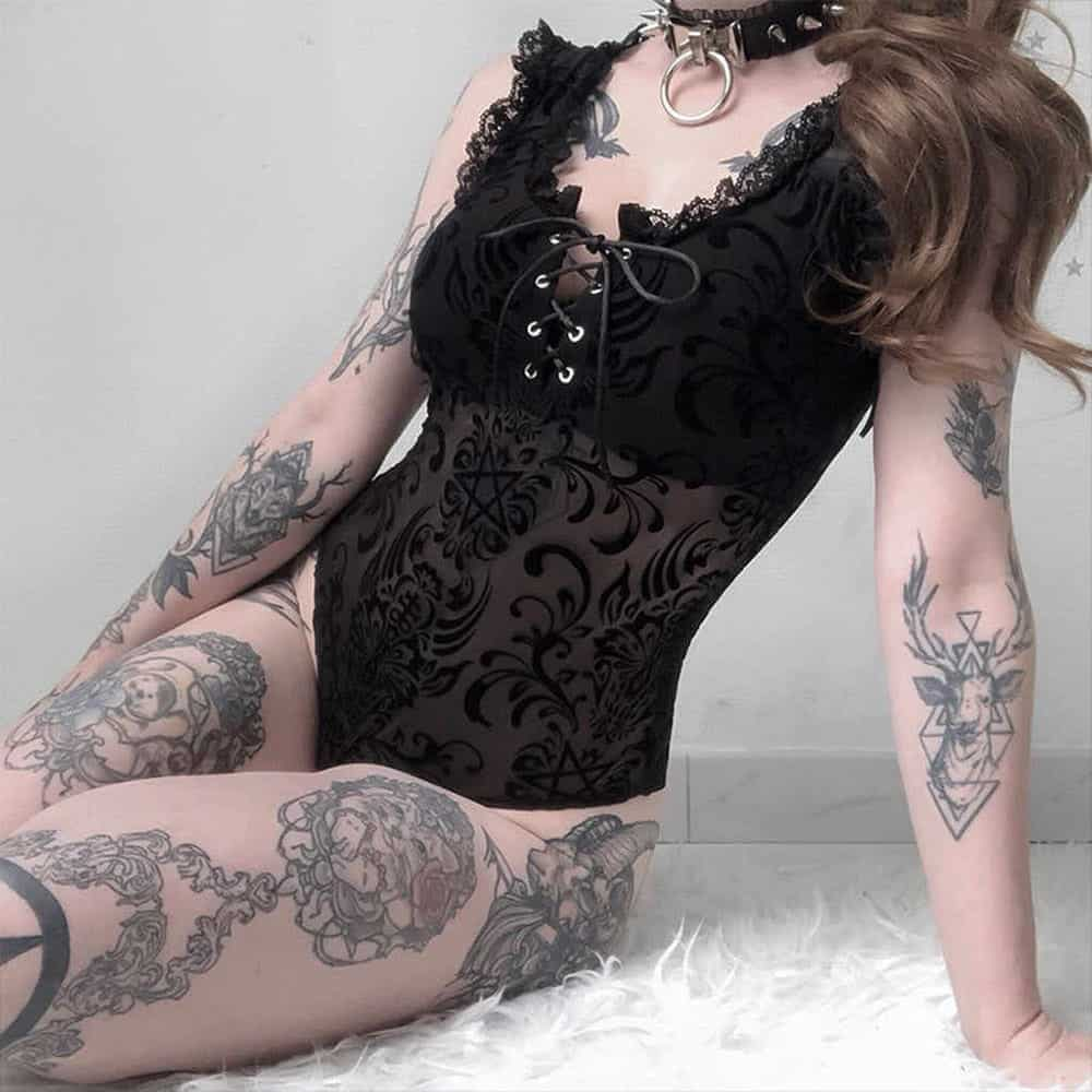 TIGHT THIN LACE BODY SUIT