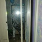 BLACK & WHITE LOOSE GRID PANTS photo review