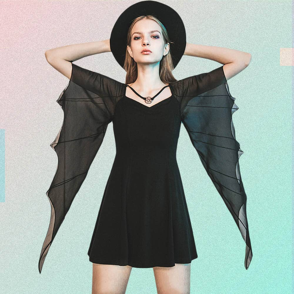 BAT WINGS DRESS IN GOTHIC STYLE