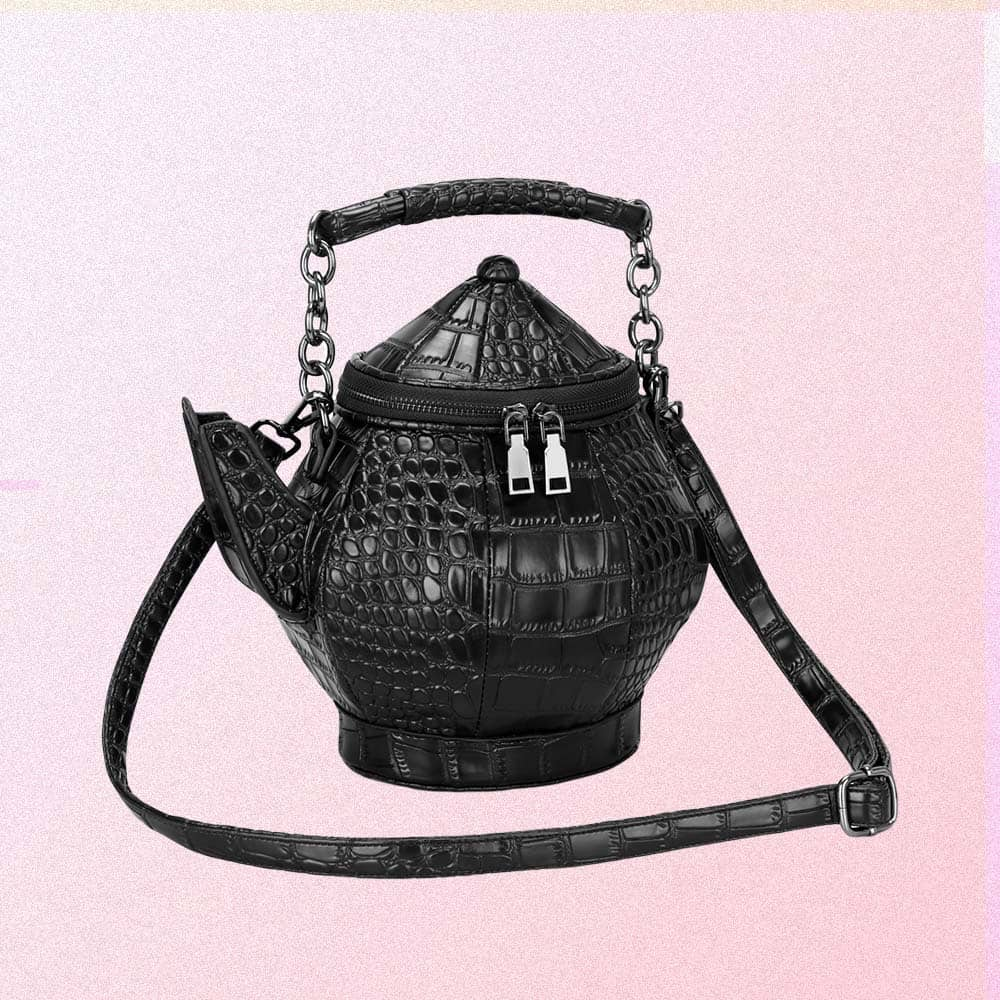 ALICE BLACK TEAPOT SHOULDER BAG