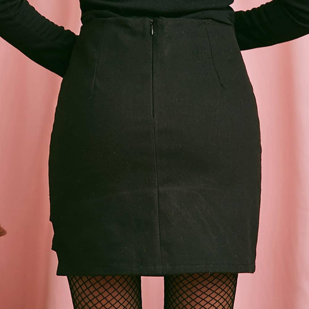 ASYMMETRIC FORM-FITTING SEXY SKIRT