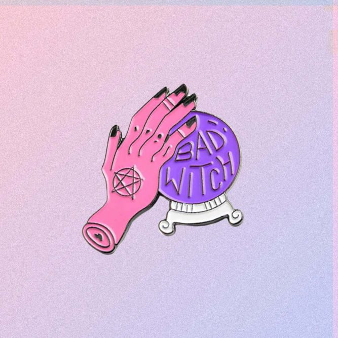 BAD WITCH ENAMELED PIN