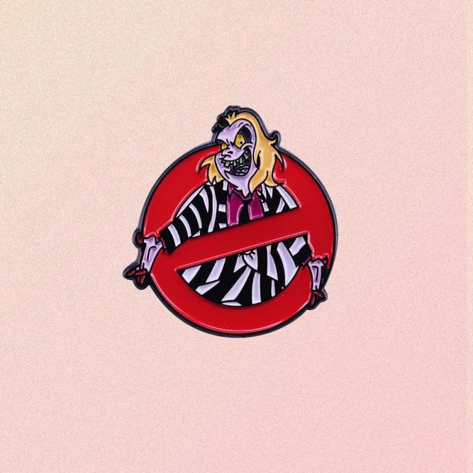 BITTLE JUICEGHOST BUSTERS SIGN ENAMELED PIN