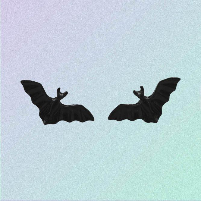 BLACK BAT EAR PINS