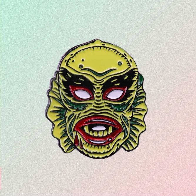 CREATURE FROM THE BLACK LAGOON ENAMELED PIN