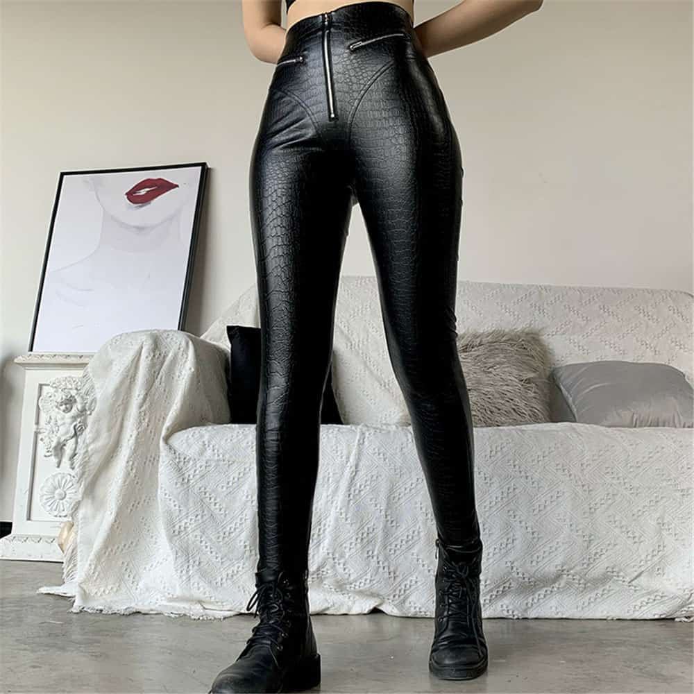 CROCODILE SKIN TIGHT PANTS