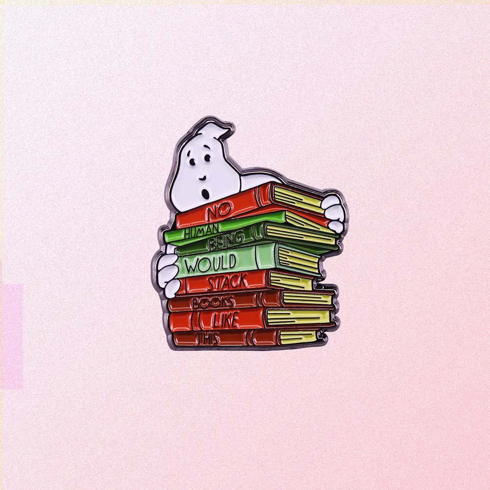 GHOSTBUSTERS BOOKS ENAMELED PIN