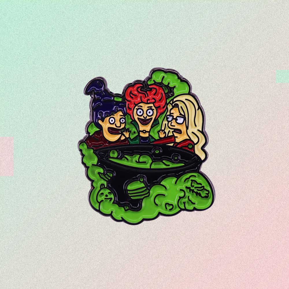 HOCUS POCUS WITCHES ENAMELED PIN