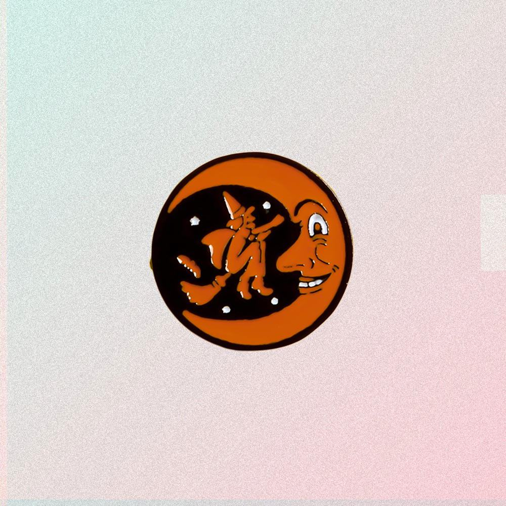 MOON & WITCH HALLOWEEN PIN