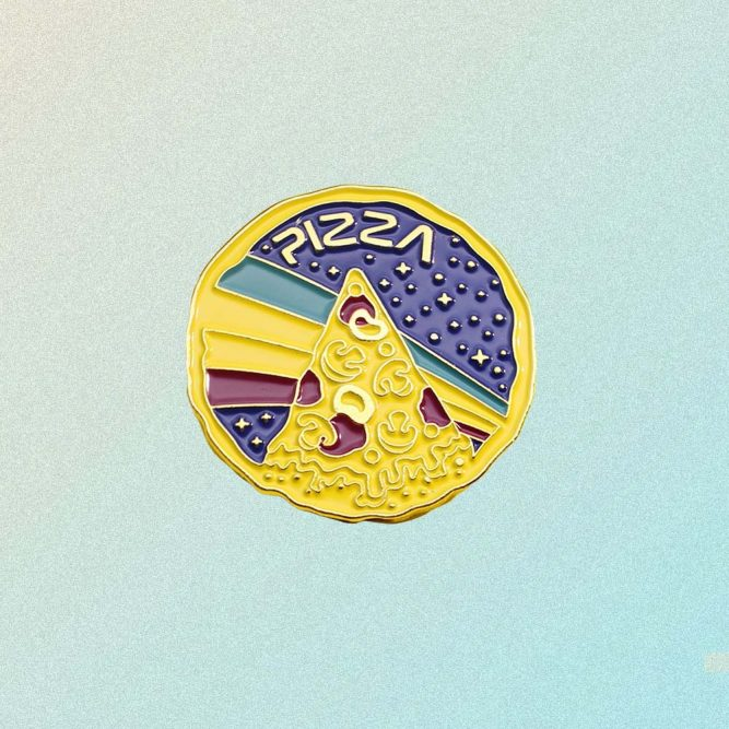 NASA PIZZA ENAMELED PIN