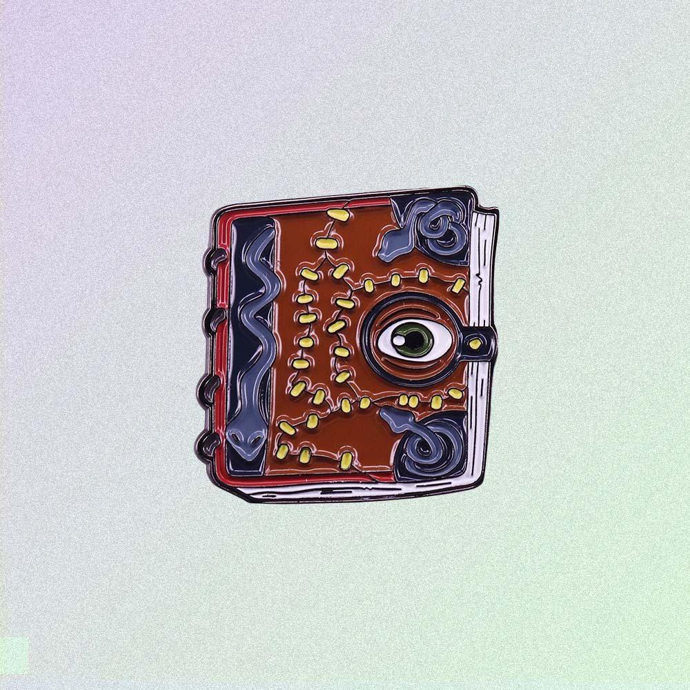 NECRONOMICON BOOK ENAMELED PIN