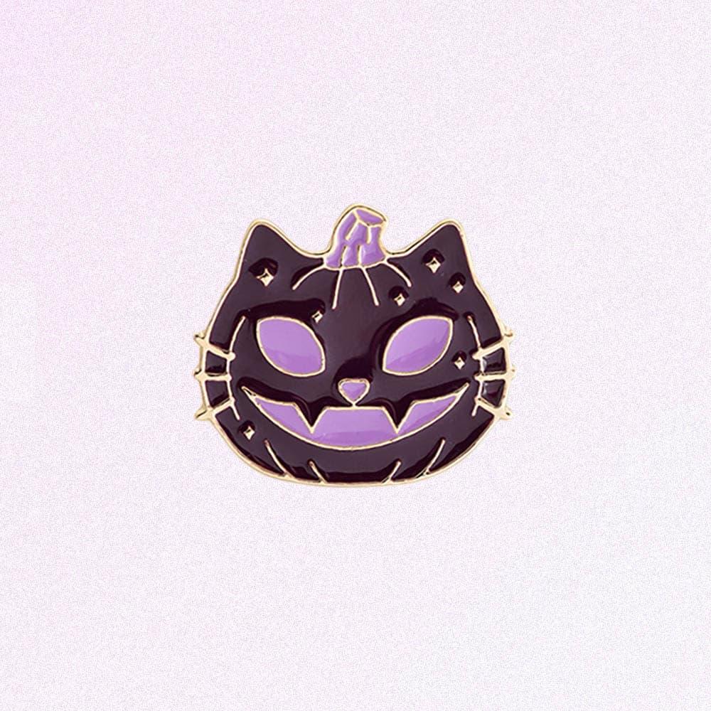 PUMPKIN CAT HALLOWEEN ENAMELED PIN