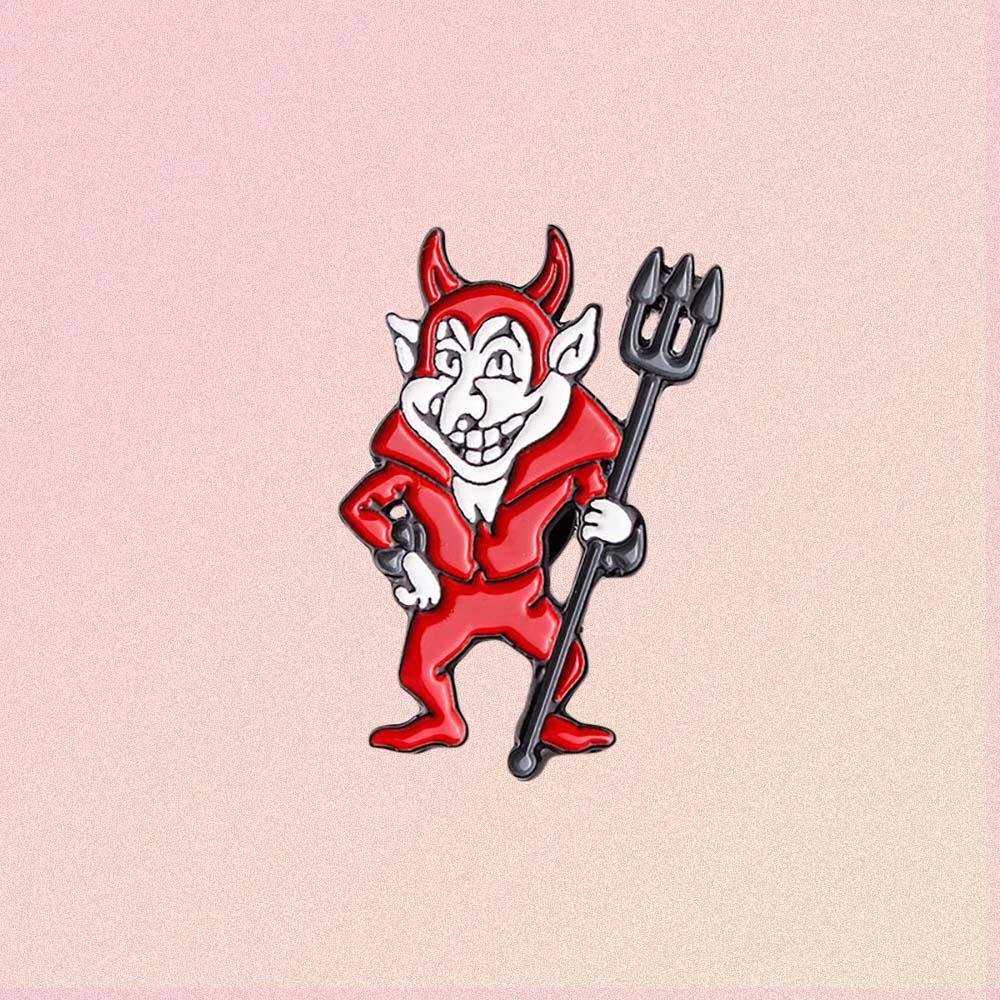 RED DEVIL ENAMELED PIN