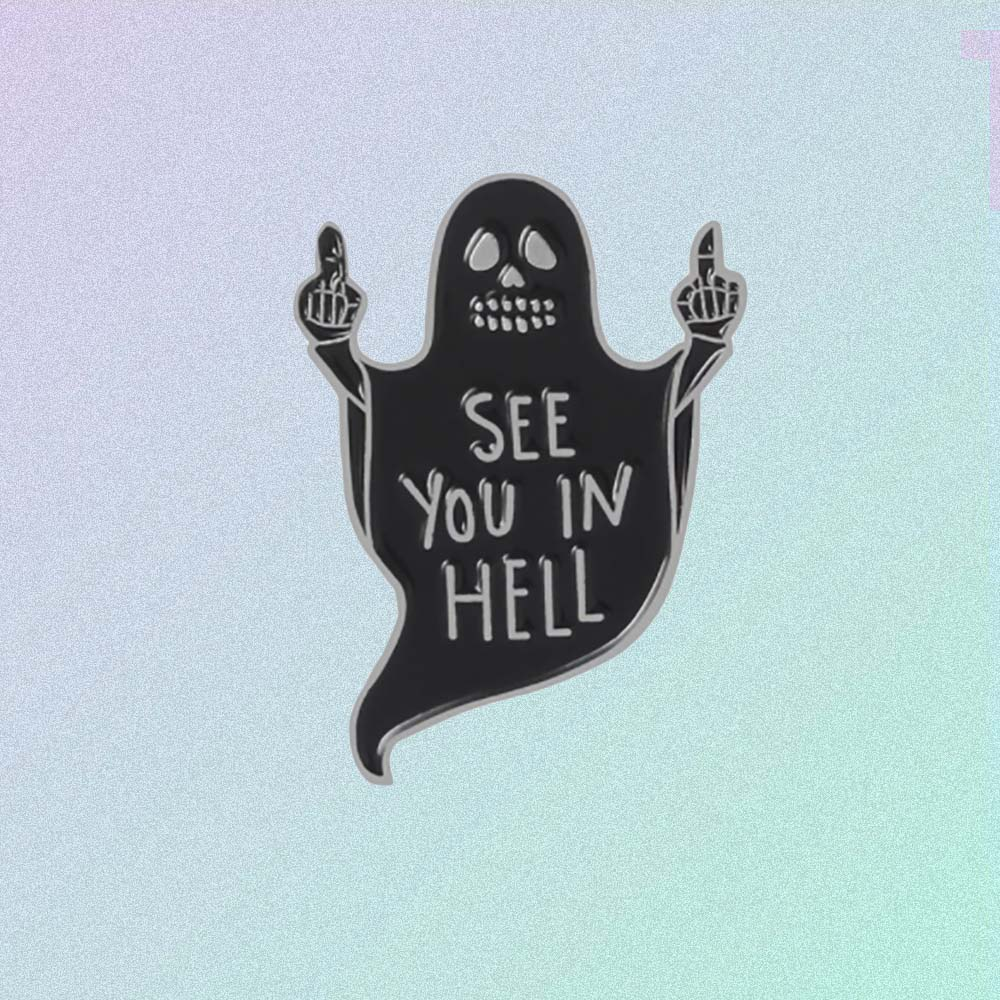 SEE YOU IN HELL ENAMELED PIN