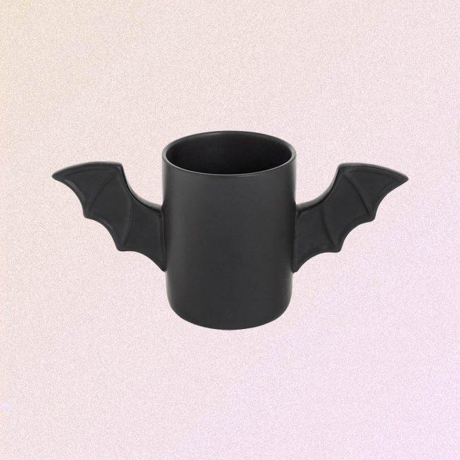 BLACK BAT WINGS MUG