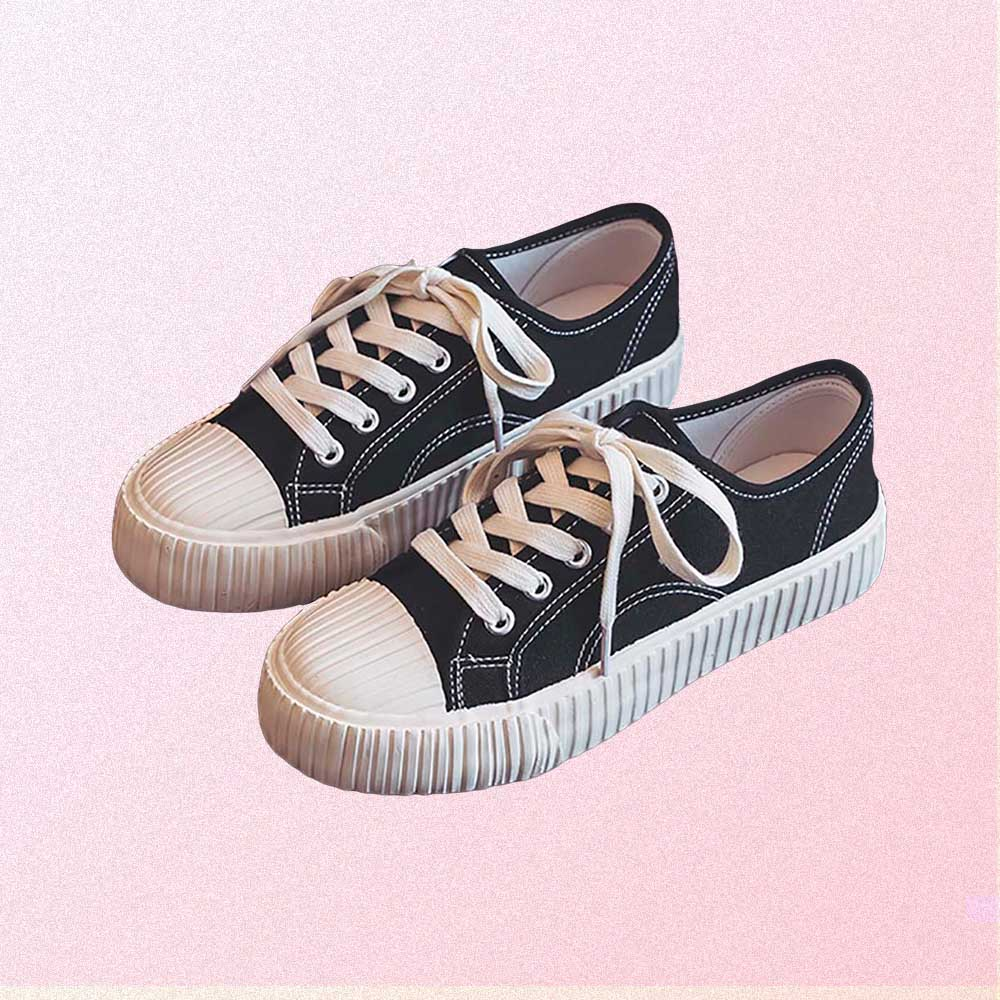 CLASSIC CANVAS RUBBER TOE AESTHETIC SNEAKERS