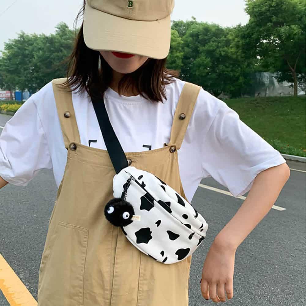 COW PRINT WAIST BAG