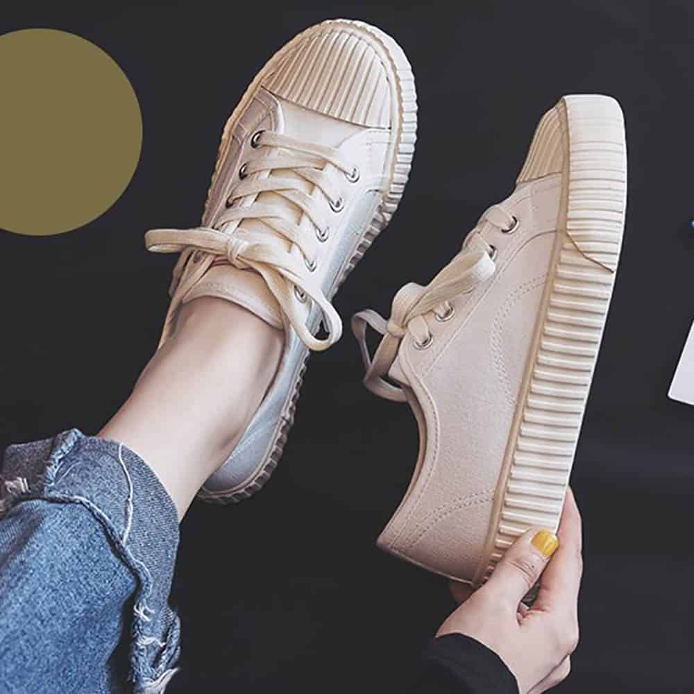 FLUTED SOLE CLASSIC DENIM SNEAKERS1