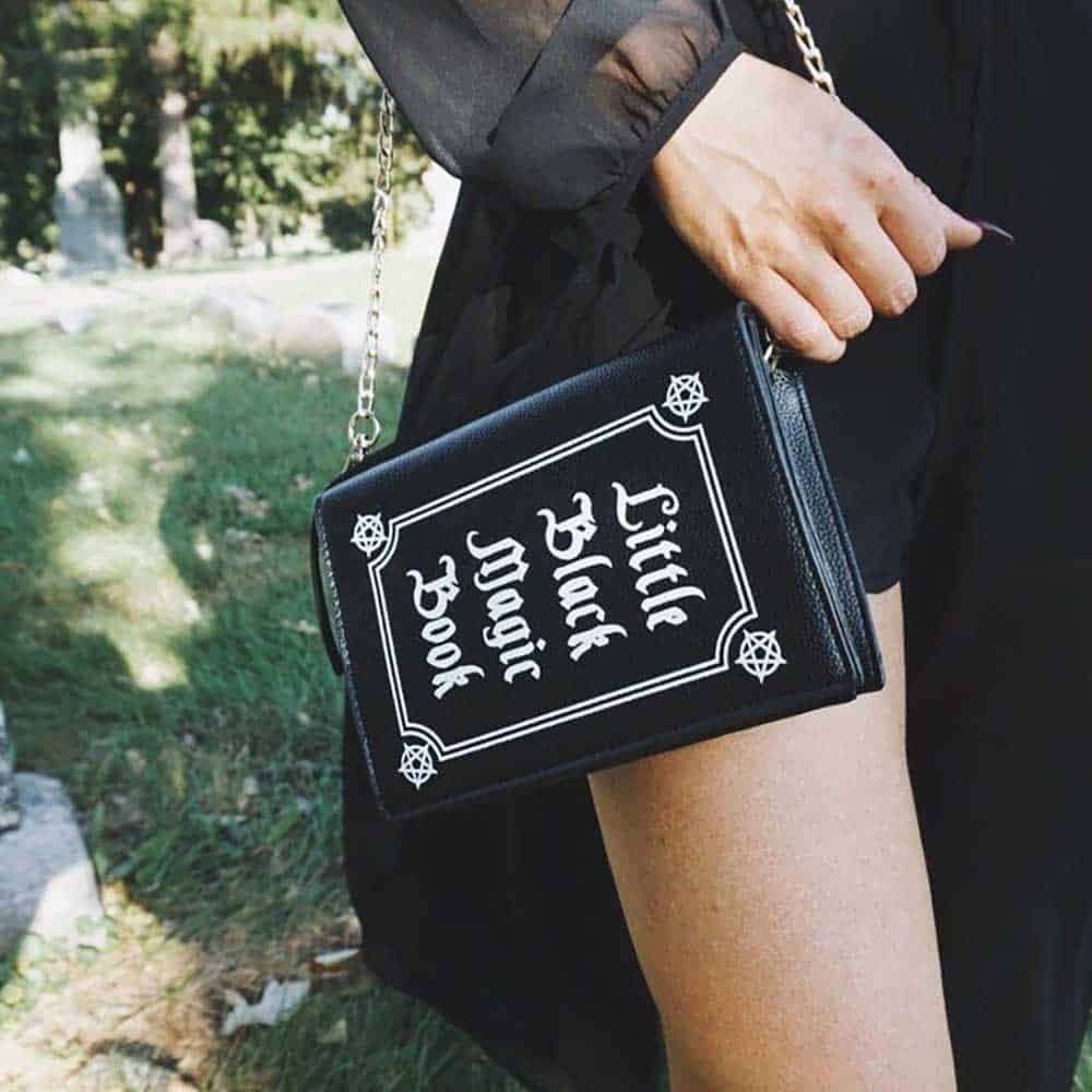 WITCH AESTHETIC LITTLE BLACK MAGIC BOOK BAG live