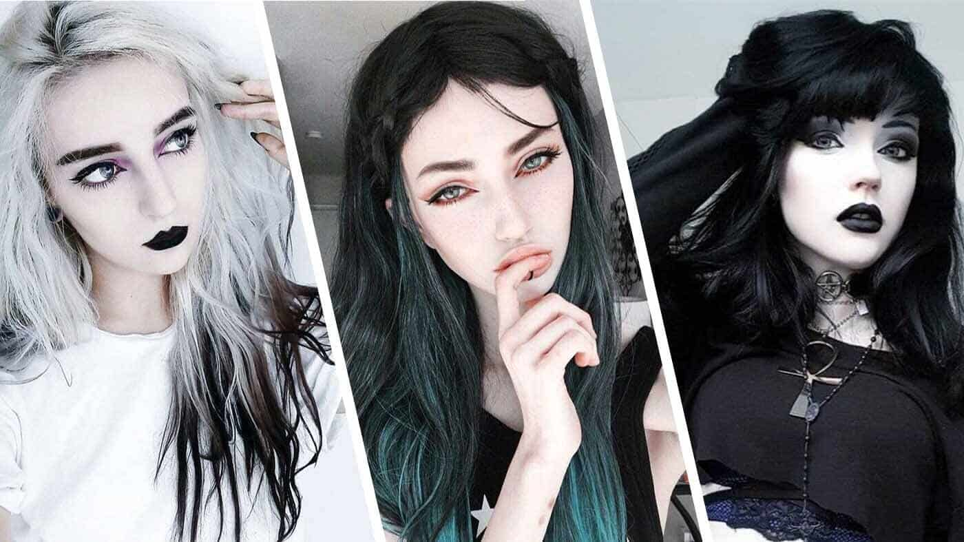 goth aesthetic hairstyles