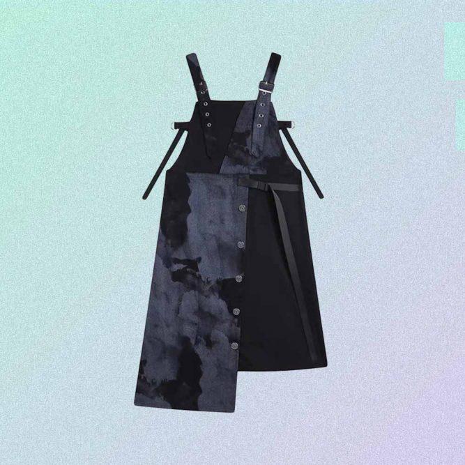 ASYMMETRIC TIE-DYE SLEEVELESS DRESS WITH STRAPS