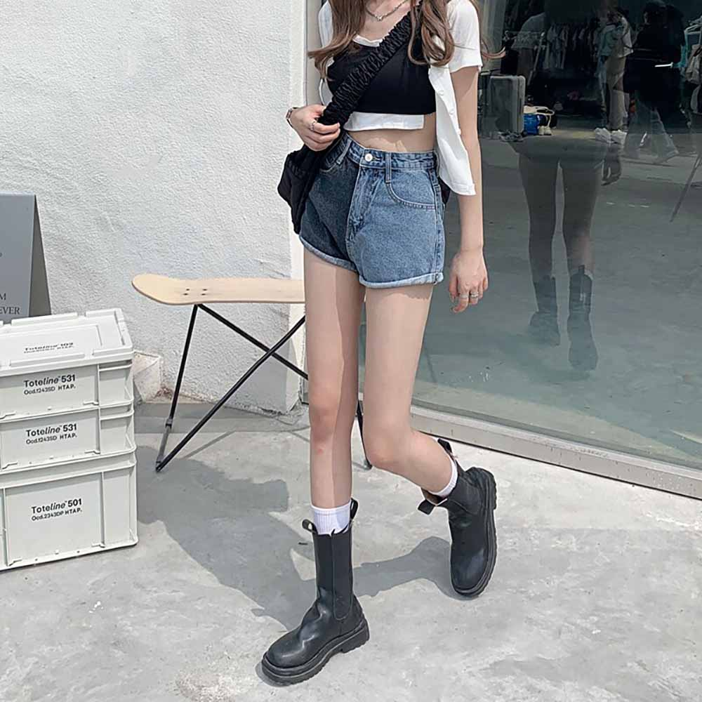 GRUNGE AESTHETIC HIGH WAIST TWO COLOR SHORTS