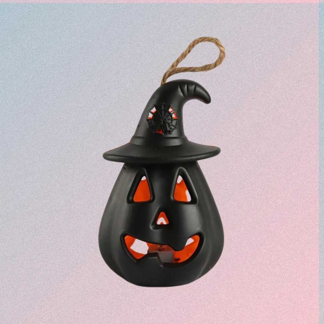 HALLOWEEN PUMPKIN BLACK CANDLE LAMP