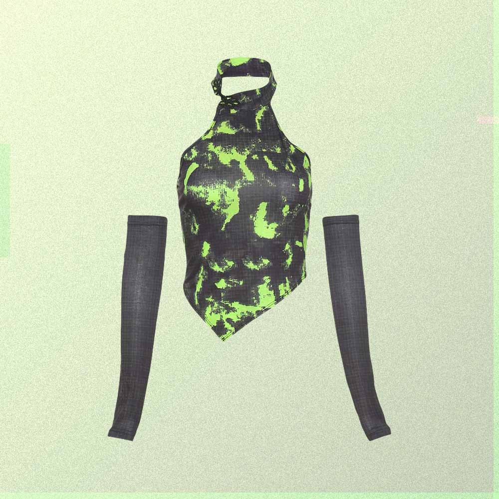 GREEN GOBLINCORE AESTHETIC SEPARATELY SLEEVES TOP